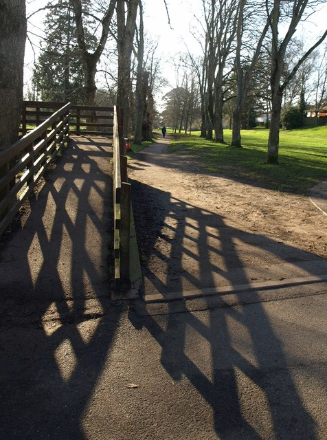 Path by the bridge, Sidmouth