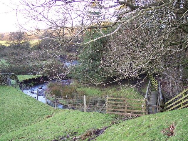 Footbridge on the Wyre Way