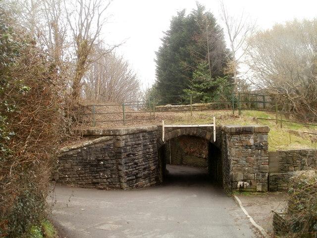 Former railway bridge, Ty Canol Lane, Machen