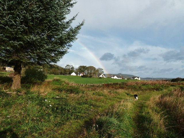 A rainbow over Auchenhill