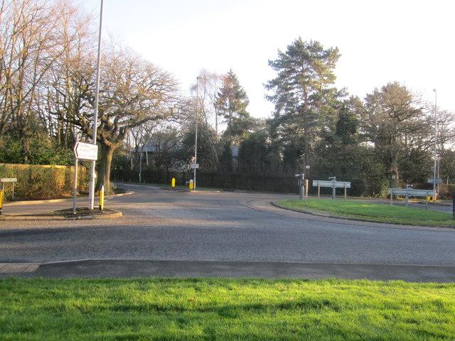 A538 Prestbury Rd/Adlington Lane roundabout Wilmslow