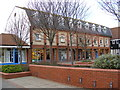 TM2445 : Shops in The Square, Martlesham Heath by Adrian Cable