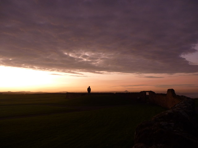 East Lothian Landscape ; Watching The Sunset