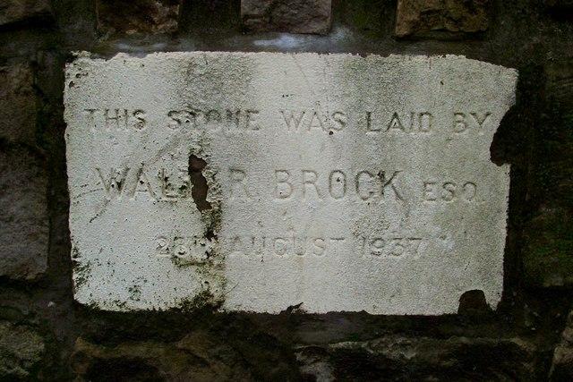 Foundation stone, former Salvation Army citadel