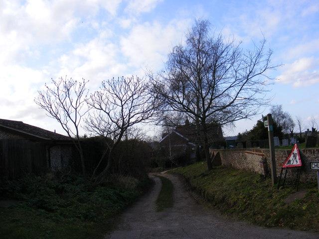 Church Lane, Blythburgh & Footpath to the A12 London Road