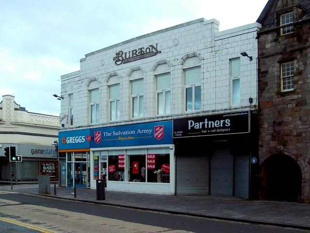 The former Burton's building