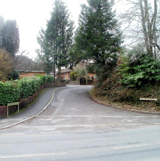 Northern end of White Hart Drive, Machen