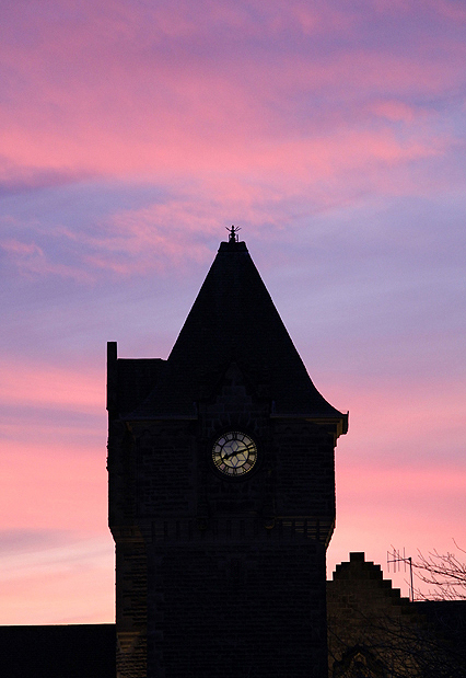 The Galashiels Burgh Chambers Clock Tower