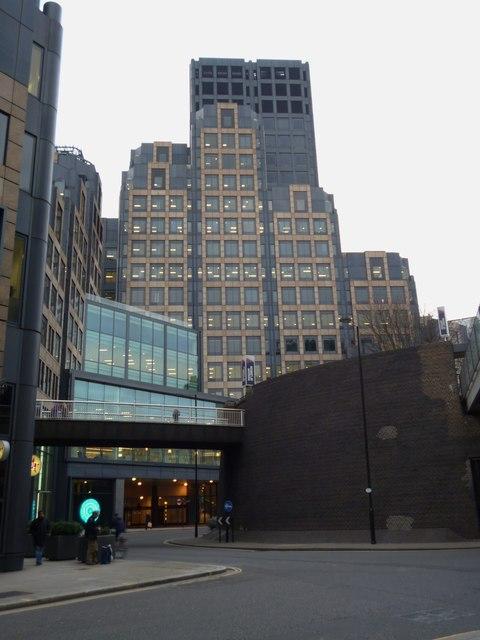 Buildings, London Wall roundabout EC2