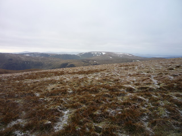 View across White Coomb summit plateau