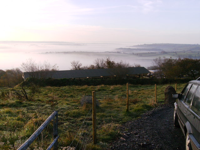 Valleys filled with mist