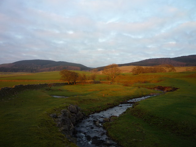 Frenchland Burn from bridge over the A708 Moffat to Selkirk Road