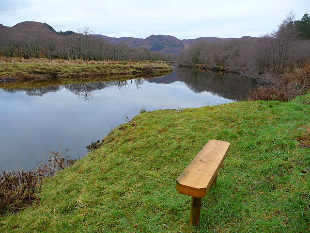 Bench by the River Elchaig