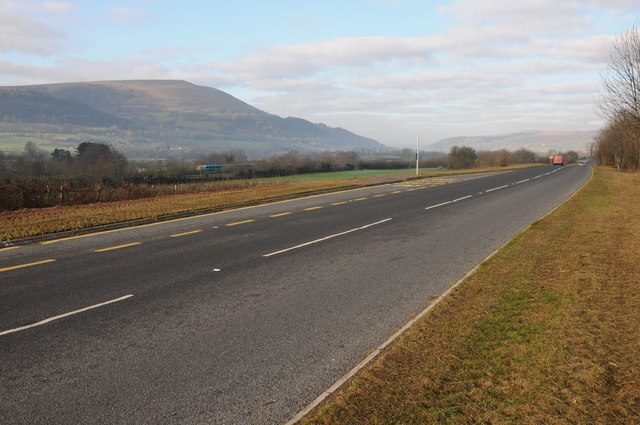 The A4598 near Abergavenny