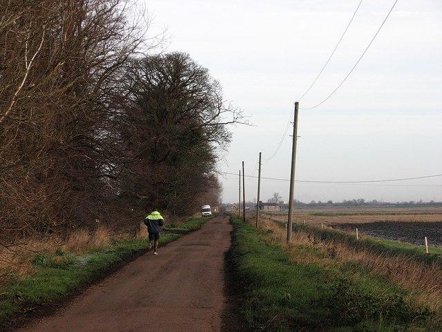 A jogger on Long Drove