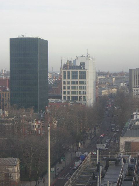 Euston Road from the ninth floor