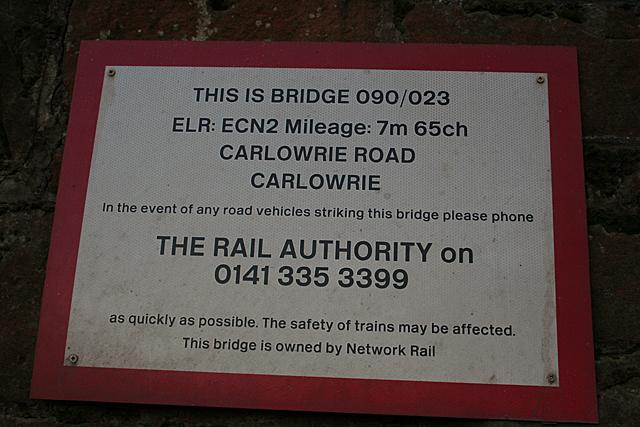 Notice Under Carlowrie Bridge