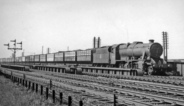 Up coke train at Wath Road Junction