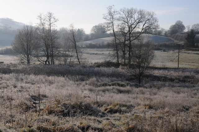 Frosty morning in the Trothy valley