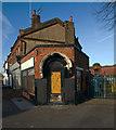 TQ2890 : Former dairy, Colney Hatch by Julian Osley