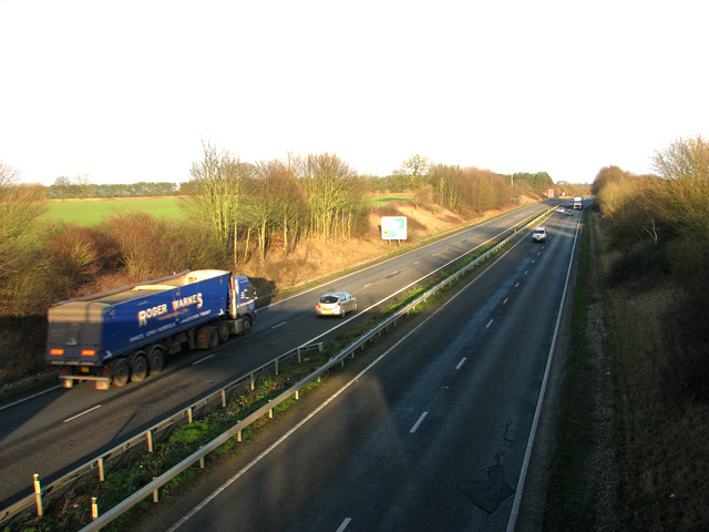 The A47 road to Norwich, Swaffham