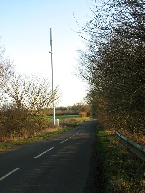 Mobile phone mast beside West Acre Road, Swaffham