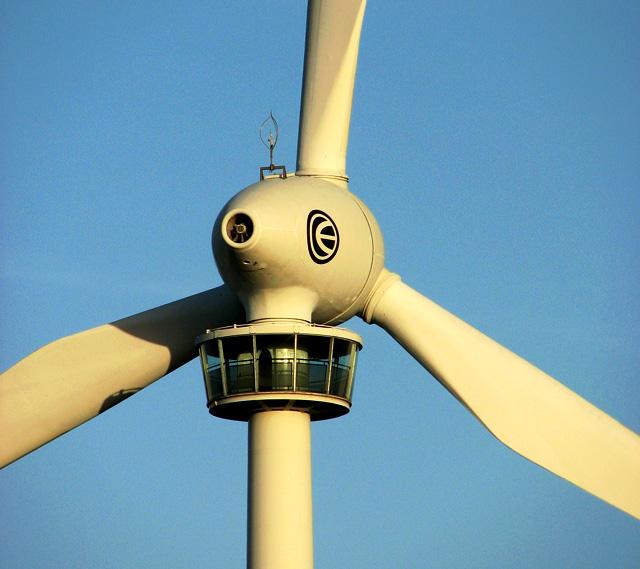 Detail of E-66 wind turbine, Swaffham
