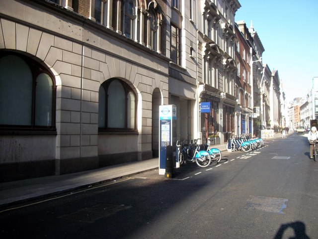 Barclays Cycle Hire Docking Station, Chancery Lane, London