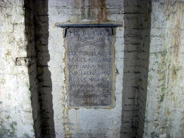 Tombstone beneath Somerset House