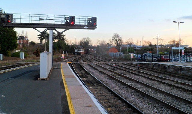 SE end of Hereford railway station