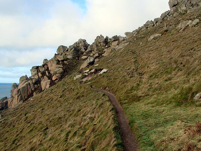 Climbing on the South West Coastal Path