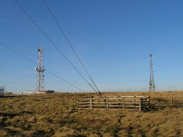 Masts on Hameldon Hill