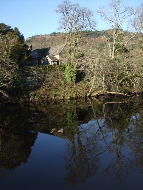 Reflection on a winters morning Afon Conwy