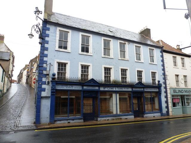 Berwick-upon-Tweed: old shopfront in Bridge Street