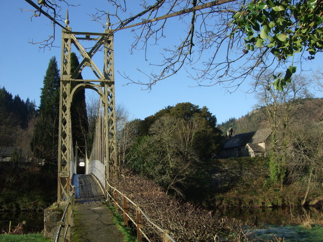 Approach to the suspension bridge at Betws y Coed