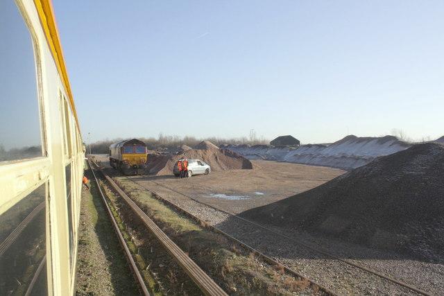 Charter train in Hanson Aggregates Appleford sidings