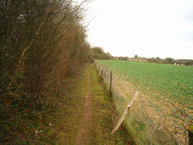 Path into Oakley village