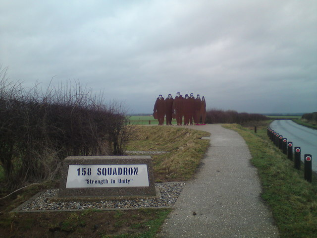 158 Sqn RAF Memorial at Lissett Windfarm