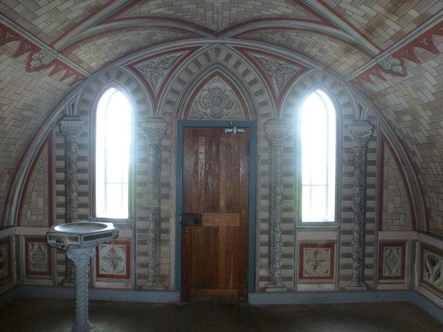 Lamb Holm: Italian Chapel door from inside