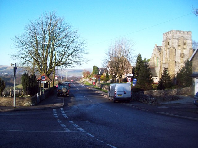 Harpur Hill Road and St James' Church