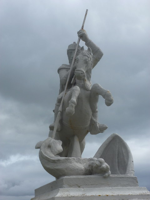 Lamb Holm: George and dragon detail