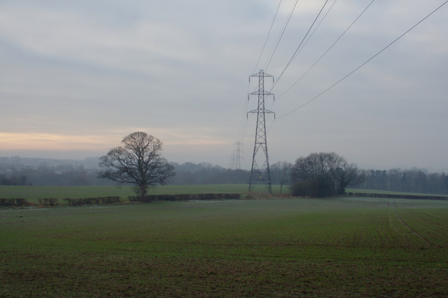 Electricity Pylons near Bilton