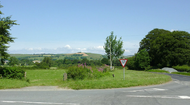 Road junction and fields south-west of Tregaron, Ceredigion