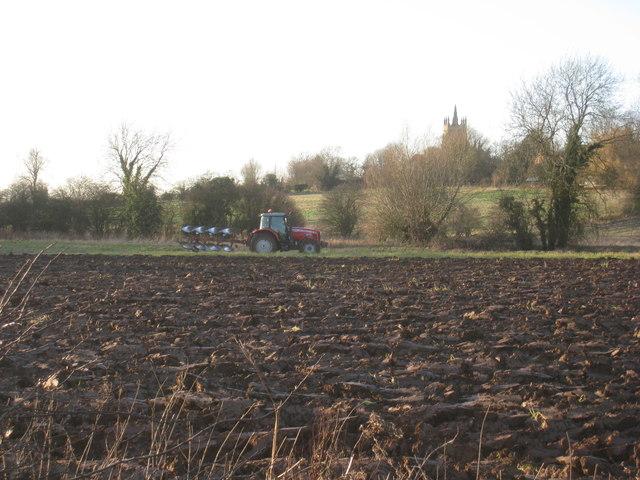 Ploughing at Upton
