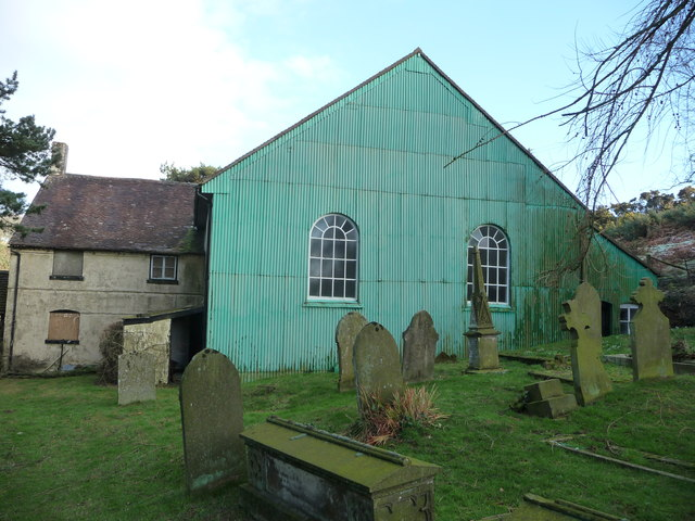 The rear of Lordshill Baptist chapel