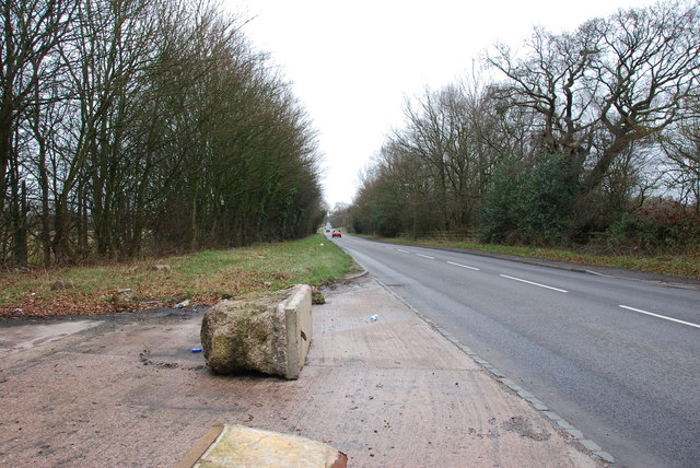 Looking down the B4210 towards Bloxwich