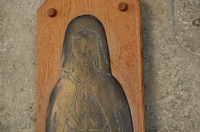 Anne Oxenbridge brass, Brede Church