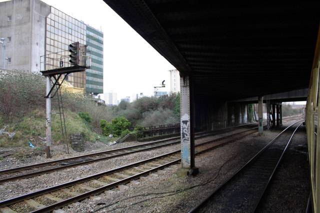 Railway bridge east of Cardiff Central Station