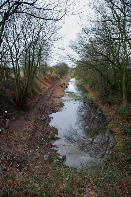 Long Lane section of the derelict Wyrley and Essington Canal