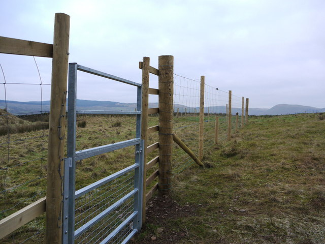 New deer fence on the way to Hartfell Spa